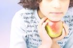 Nutrition: Little Girl Holding Apple